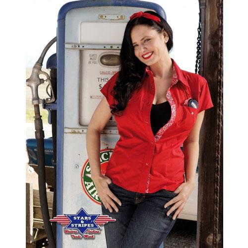 Košile western dámská STARS and STRIPES Lily Red 2630387b20