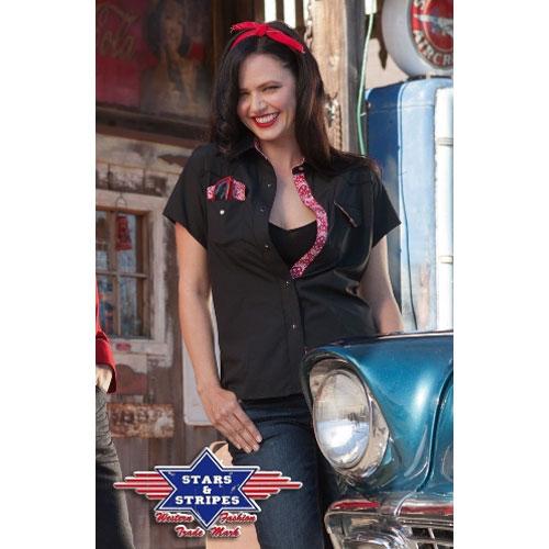 f965e70a758 Košile western dámská STARS and STRIPES Lily Black
